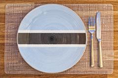 Dinner plate for Botswana - stock photo