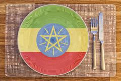 Dinner plate for Ethiopia Stock Photos