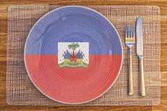 Dinner plate for Haiti - stock photo