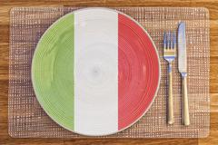 Dinner plate for Italy - stock photo