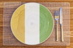 Dinner plate for Ivory Coast - stock photo