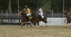 Players polo game goal Stock Footage
