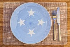 Dinner plate for Micronesia Stock Photos