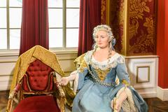 Kaiserin Maria Theresia Figurine At Madame Tussauds Wax Museum - stock photo