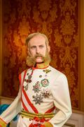 Kaiser Franz Joseph von Osterreich Figurine At Madame Tussauds Wax Museum - stock photo