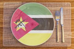 Dinner plate for Mozambique Stock Photos