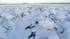 Stock Video Footage of Frozen Wasteland
