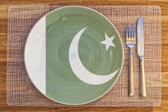 Dinner plate for Pakistan Stock Photos