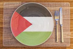 Dinner plate for Palestine - stock photo