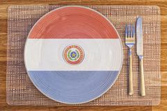 Dinner plate for Paraguay - stock photo