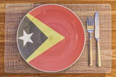 Dinner plate for Timor Leste - stock photo