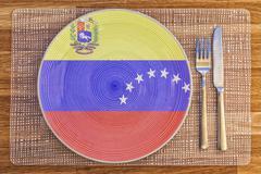 Dinner plate for Venezuela - stock photo