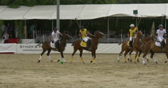 players polo game goal - stock footage