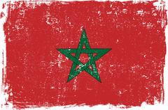 Morocco Vector Flag on White - stock illustration