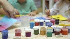 Jars of paints Stock Footage