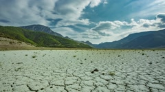 Dry lake in Black Sea Region of Turkey Stock Footage