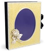 Beautiful rich photo album with frame on white backround. - stock photo