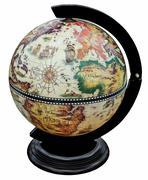 Antique  globe isolated on white Stock Photos