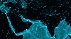 World connections. Middle East. Locked. Cyan. More options in my portfolio. Stock Footage