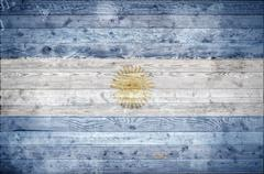 Wooden Boards Argentina - stock photo