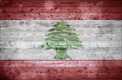 Wooden Boards Lebanon Stock Photos