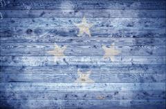 Wooden Boards Micronesia Stock Photos