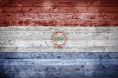 Wooden Boards Paraguay - stock photo