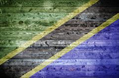 Wooden Boards Tanzania Stock Photos