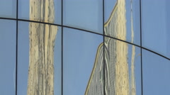 Stephansdom reflected on the facade of Haas House, Vienna Stock Footage