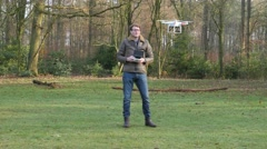 A man is operating a drone, 4K UltraHD, 4K UltraHD Stock Footage