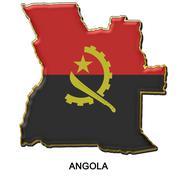 Angola metal pin badge Stock Illustration