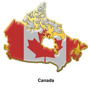 Stock Illustration of Canada metal pin badge