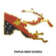 Papua New Guinea metal pin badge - stock illustration
