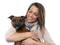 Woman and dog Kuvituskuvat