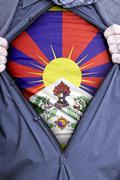 Tibetan Businessman - stock photo