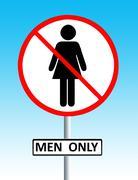 Men only sign Stock Illustration