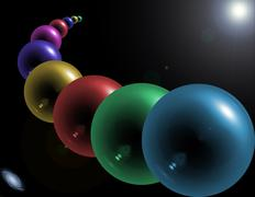 Abstract glass orbs Stock Illustration