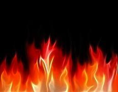 fractal flames - stock illustration