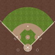 Baseball Field Stock Illustration
