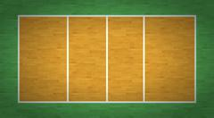 Volleyball Court - stock illustration