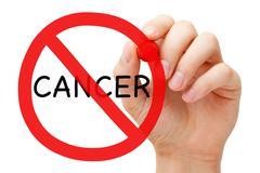 Cancer Prohibition Sign Concept Stock Photos