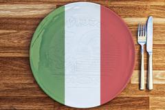 Italian Pizza Plate Concept - stock photo