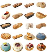 Bakery Mixed Assortment Stock Photos