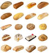 Bakery Mixed selection Stock Photos