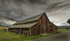 Old Barn, Panoramic Color Image Stock Photos