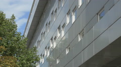 Arcotel Kaiserwasser Hotel on Wagramer street in Vienna Stock Footage