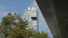 IZD Tower in the Donau City district, Vienna Stock Footage