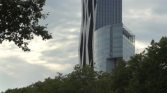 DC Tower 1 and another modern building in the Donau City district, Vienna - stock footage