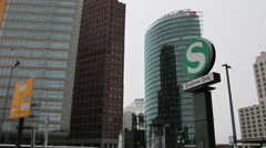 BERLIN - Germany Potsdamer Platz, Berlin, Germany. City life. Stock Footage