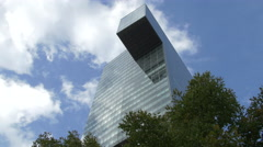 Great view of the IZD Tower in the Donau City, Vienna Stock Footage